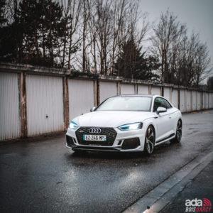 Location voiture blanche pour mariage AUDI RS5 dans les Yvelines- ADA Bois d'Arcy 78
