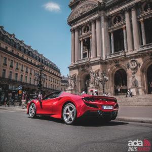 Location voiture sportive Ferrari F8 Tributo Spider ada bois d'arcy 78 Yvelines